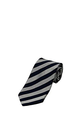 Cravatte Zegna Uomo Seta Grigio e Blu ZCE301L8D Grigio 8.5 cm