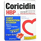 Coricidin HBP Chest Congestion & Cough Liqui-Gels 20.0 ea. (Quantity of 5)