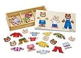 Melissa & Doug Wooden Bear Family Dress-Up Puzzle