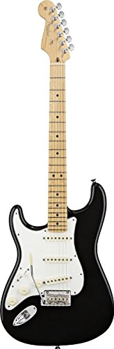 Fender American Standard Stratocaster Electric Guitar, Maple Fingerboard, Left Handed, Black