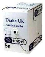 Videk 305m Draka 4 Pair Solid Cat5e UTP Cable - Beige