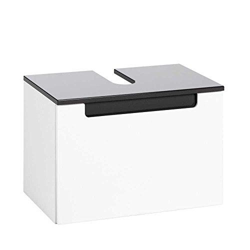 Waschbeckenschrank Select in Weiß Hochglanz Pharao24