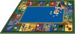 "Joy Carpets Kid Essentials Early Childhood My Favorite Rhymes Rug, Multicolored, 5'4"" x 7'8"" - 1"