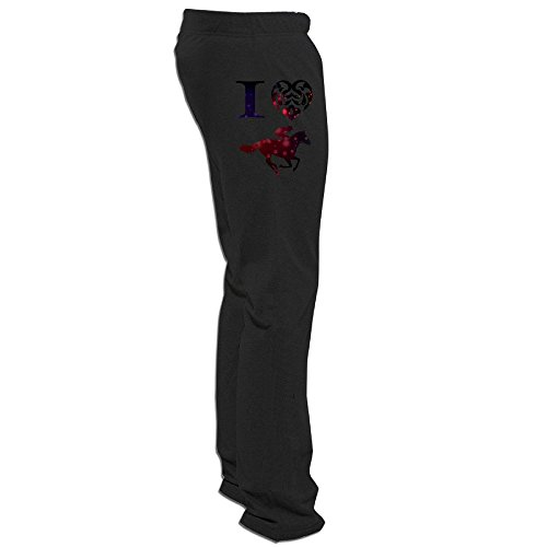 Victoyan Men's Horse Riding Racing Jumping Games Anime Sweatpants XL Black