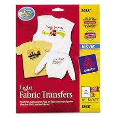 "Avery Iron-On T-Shirt Transfers, 18 Transfers, 8-1/2""x11"""