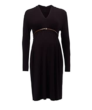 Blooming Marvellous Maternity Black Belted Jersey Dress