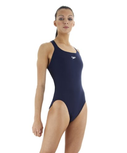 Speedo Women's Medalist Swimming Costume - Navy, 36 Inch
