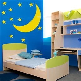 Lovely Star Moon Kid'S Room Wall Sticker Wall Decal