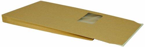 Bong 14067 - Busta postale con fondo quadro, formato DIN C4, con lembo adesivo, in cartone natron 140 g/m², 200 pezzi, marrone