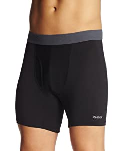 Reebok Men's Performance Boxer Brief, Black, Small