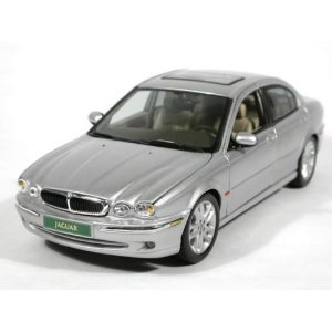 X-Type Jaguar Silver 1:18 Scale Diecast model Car