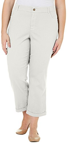 Caribbean Joe Plus Solid 5 Pocket Roll Hem Pants 18W Sand beige (Caribbean Joe Pants compare prices)