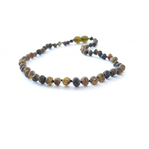 The Art of Cure Baltic Amber Teething Necklace for Baby (Raw Green) - Anti-inflammatory - 1