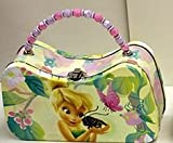 DISNEY TINKERBELL & FRIENDS LUNCH BOX/PURSE WITH BEAD LIGHT YELLOW