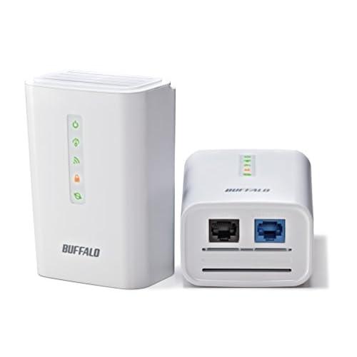 BUFFALO 11n/g/b 無線LAN親機 PLCアダプター機能 2台 【Wii U動作確認済み】 WPL-05G300/2