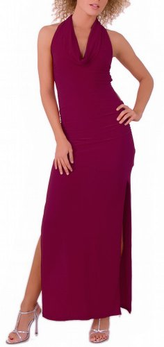 Backless Sexy Long Halter Dress From Glam Attack Dresses - Tonight Purple