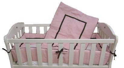 Baby Doll Bedding Hotel Style Port-a-Crib Bedding Set, Pink