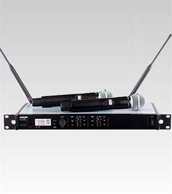 Shure Dual Receiver Wireless System, G50, With Two Sm58 Handheld Transmitters
