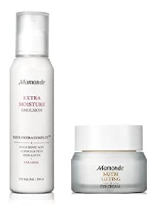 KOREAN COSMETICS, AmorePacific _ Mamonde, Extra moist moisturizing care lotions and creams set (Extra Moisture Emulsion 150ML-Nutri lifting eye cream30ml), (nutrition, moisturizing, vitality, moisture, elasticity)[001KR]