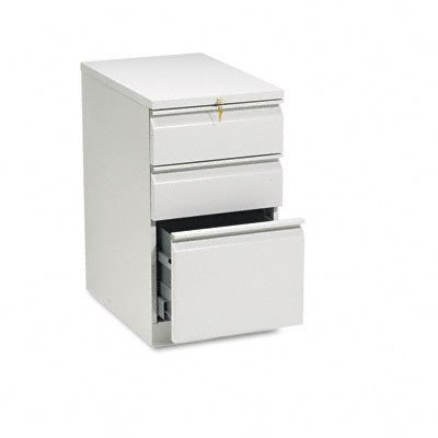 HON 33723RQ 22-7/8-Inch Efficiencies Mobile Pedestal File with 1 File and 2 Box Drawers, Light Gray