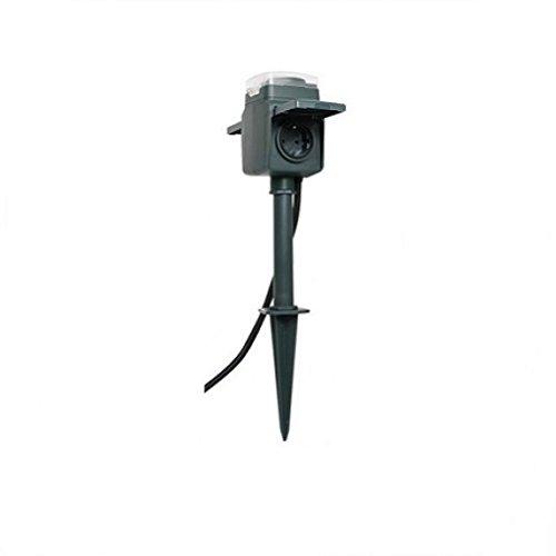 0595008555 Erdspieß mit Steckdose, 2-fach, und mechanischer Zeitschaltuhr