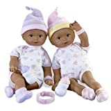 Fisher Price - Little Mommy Baby Dolls - African American Newborn Twins (Girl/Girl)