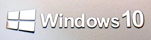 Microsoft Windows 10 Metal Sticker 9mm x 50mm [878] (Windows Xp Sticker compare prices)
