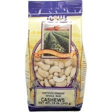 NOW Foods Cashews Raw,  12 Ounce Bags (Pack of 4)