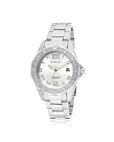 Invicta Women's 12851 Silver-Tone Crystal Stainless Steel Watch