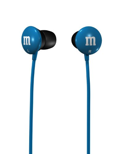 Maxell 190552 M&M'S Lightweight Earbuds, Blue