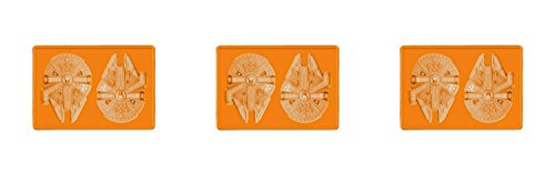 3-Pack of Star Wars Millennium Falcon Silicone Ice Trays / Jello or Cake Molds