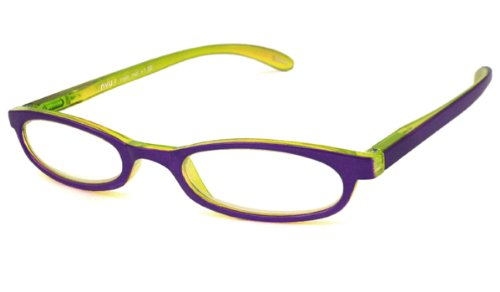 NVU Eyewear Half Readers (Women) Reading Glasses - F Train Purple / F TRAIN PURPLE +1.50