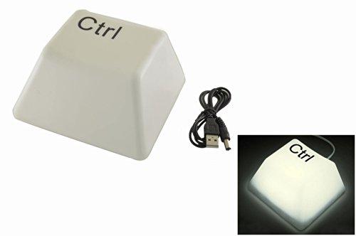 Novelty White Light Led Ctrl Keyboard Key Style Usb Powered Keypress Desk Lamp Nightlight Personalized Gifts