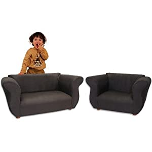 Fantasy Furniture Sofa And Chair - Fancy Set Black Microsuede from Fantasy Furniture