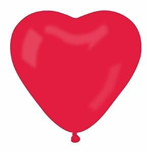 Amazon.com: Karaloon 12-inch Heart Balloons (Red): Toys & Games