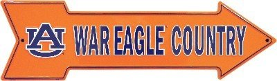 University of Auburn AU Tigers War Eagle Country Embossed Aluminum Arrow Sign at Amazon.com