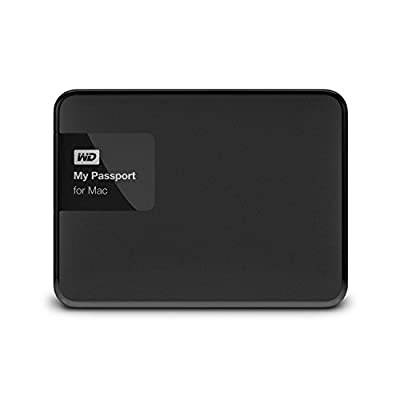 WD 2TB Black My Passport for Mac PortableExternal Hard Drive- USB 3.0- WDBCGL0020BSL-NESN