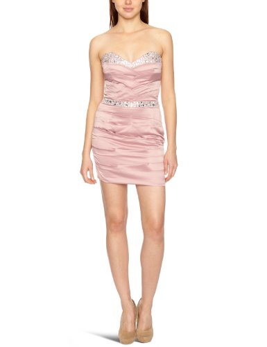 Lipsy DR05544 Ruches With Embellished Strapless Women's Dress