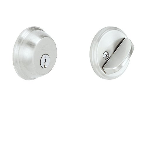 Schlage B60CSSK V 626 Light Commercial Single Cylinder Deadbolt, Brushed Chrome