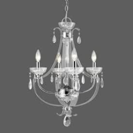 Golden Lighting 6530 4 CH Chandelier with Metal Candle