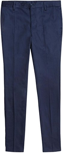 French Toast School Uniforms Skinny Stretch Twill Pant Girls Navy 10 front-923647