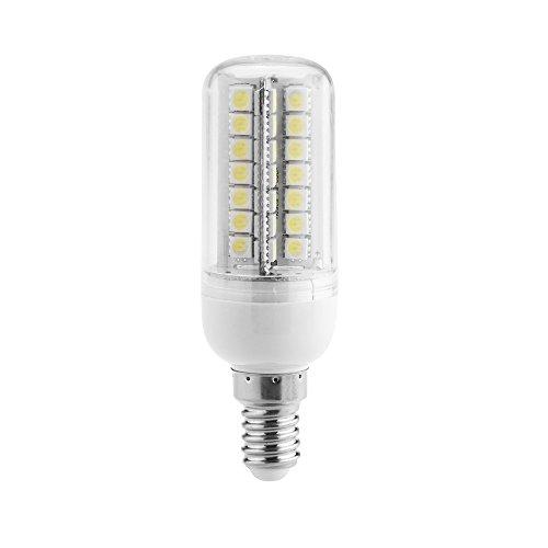 Kkmoon E14 7W 5050 Smd 56 Leds Energy Saving Corn Light Lamp Bulb 360 Degree Lighting Angle White 200-230V