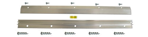 Hangman Heavy-Duty Mirror and Picture Hanger with Walldog Anchorless Screws - Aluminum (HM-18D)
