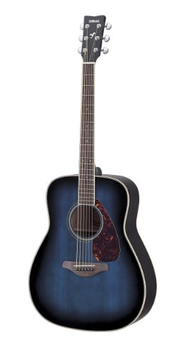 Yamaha FG720s Solid Top Acoustic Guitar Oriental Blue Burst