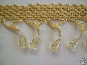 Beaded Tassel Fringe Champagne 2 Inch By The Yard