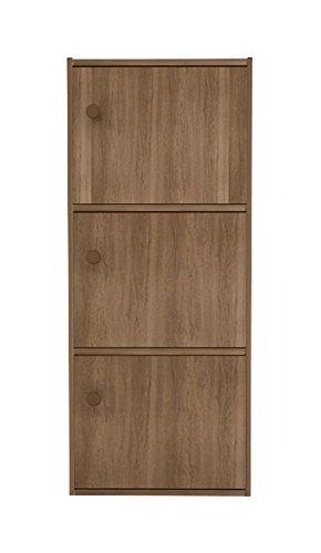 Housefull Mac 3-Door Storage Cabinet (Walnut)