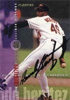 Armando Benitez Baltimore Orioles 1995 Fleer Autographed Hand Signed Trading Card. by Hall of Fame Memorabilia