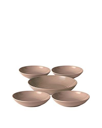 Gordon Ramsay Royal Doulton Maze 5-Piece Pasta Set, Taupe