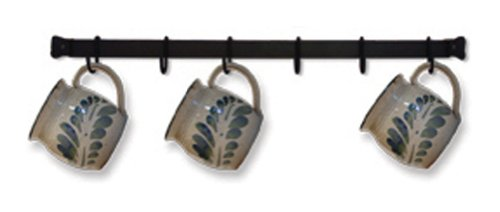 Wrought Iron 6 Cup Rack Wall Mount (Cup Rack Wall Mount compare prices)
