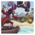 Captain Hook Beverage Napkins - 16 Count - 1